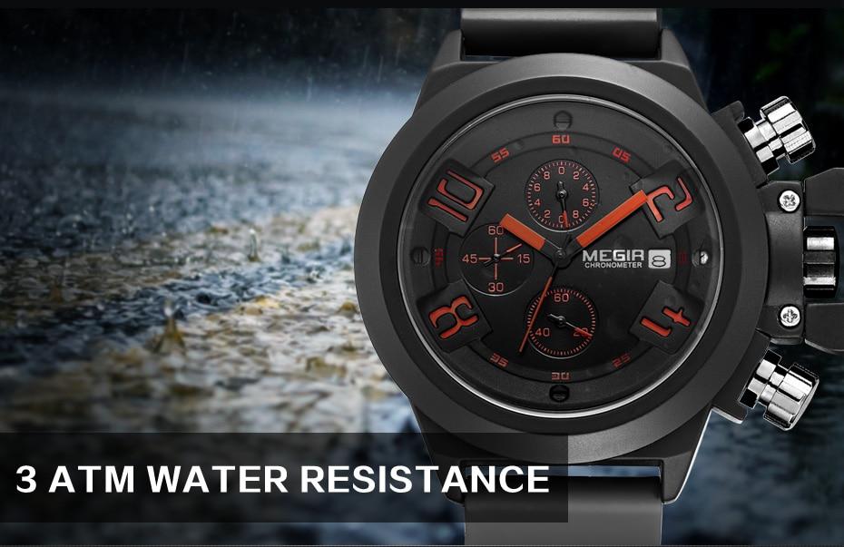 MEGIR Original Watch Men Sport Quartz Men Watches Chronograph Wrist Watch Relogio Time Hour Clock Reloj Hombre Mens Watches