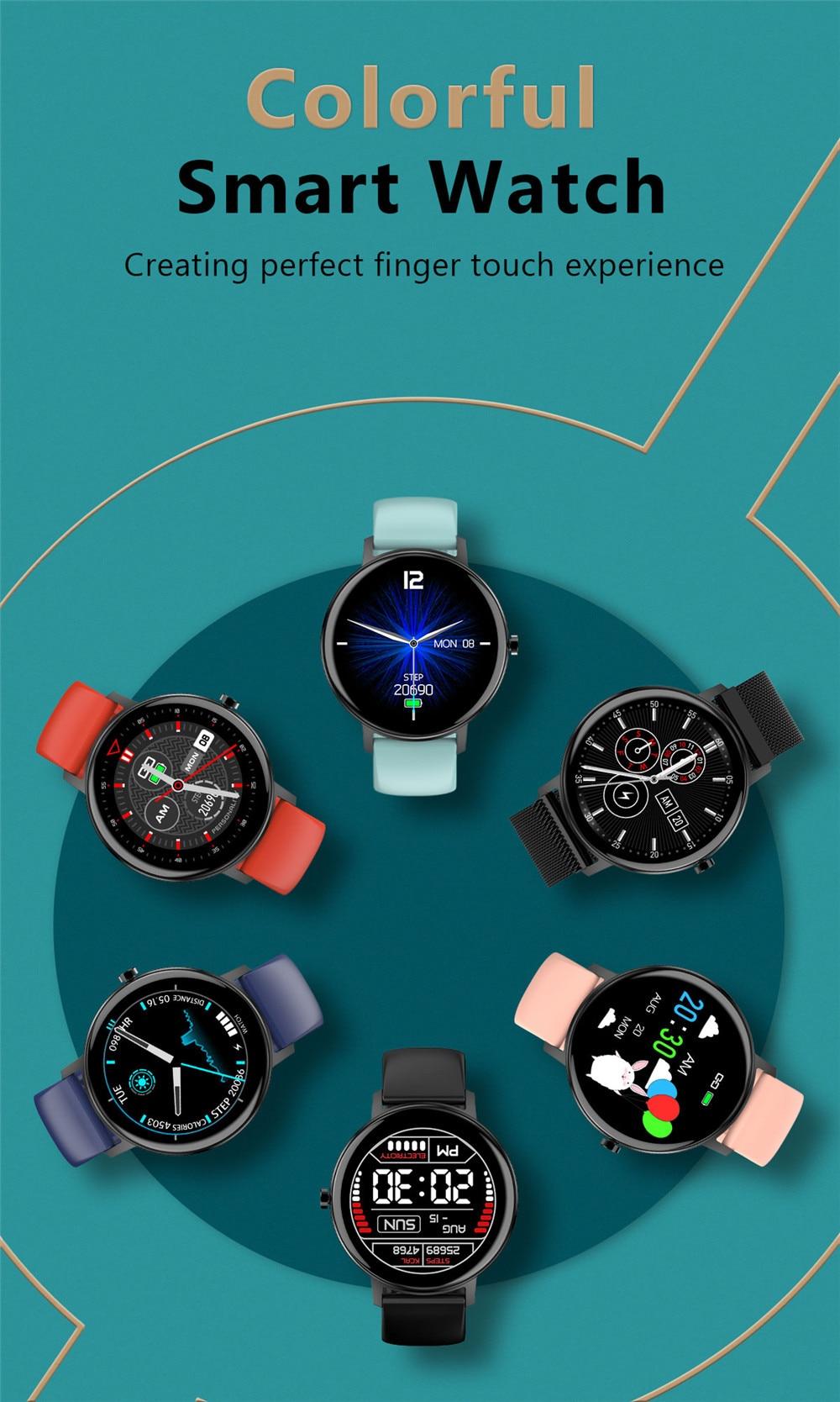 2020 Full Touch Smart Watch Men Sport Smartwatch Women Ip67 Waterproof Pedometer Fitness Tracker Watch Blood Pressure Heart Rate