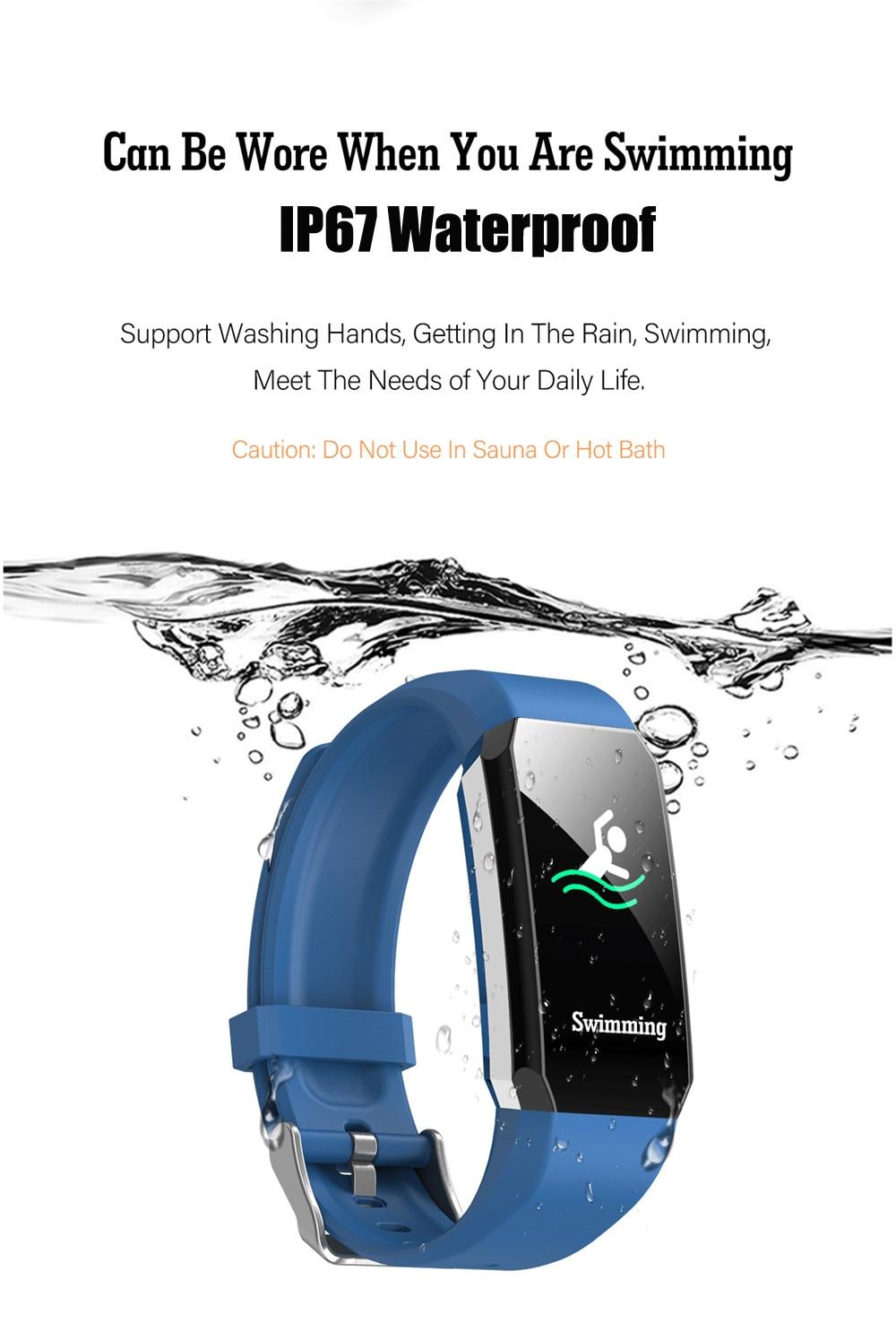 Smart Watch Men Women Body Thermometer Blood Pressure Sleep Monitor Fitness Tracker Smartwatch Waterproof Sport Fitness Bracelet