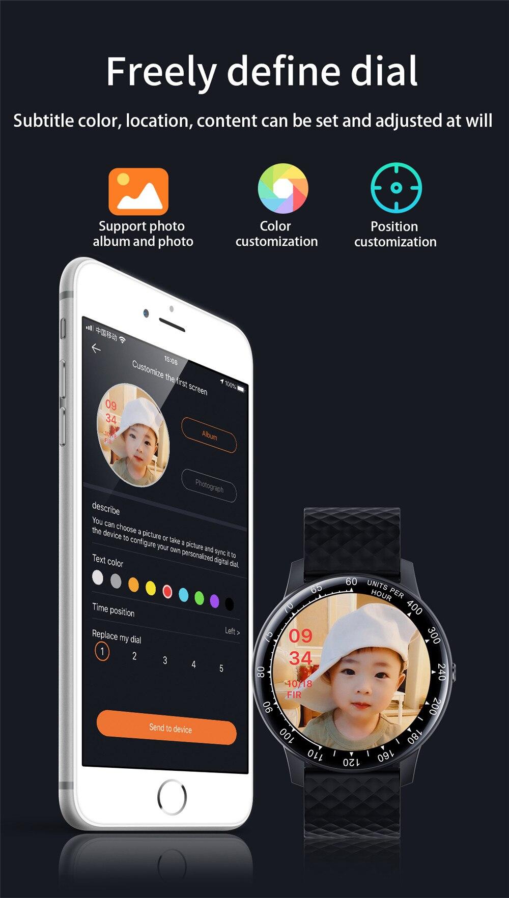 IP68 Waterproof Smart Watch Men 2020 Full Touch Smartwatch Women Custom wallpaper Pedometer Fitness Tracker Watch Blood Pressure