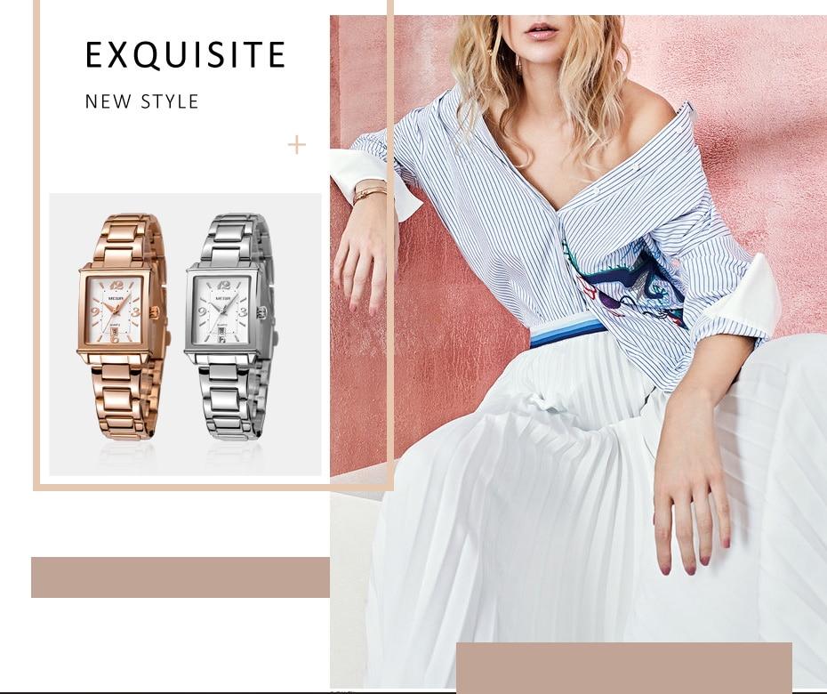 MEGIR Ladies Watches Rose Gold Luxury Women Bracelet Watch for Lovers Fashion Girl Quartz Wristwatch Clock Relogio Feminino 1079