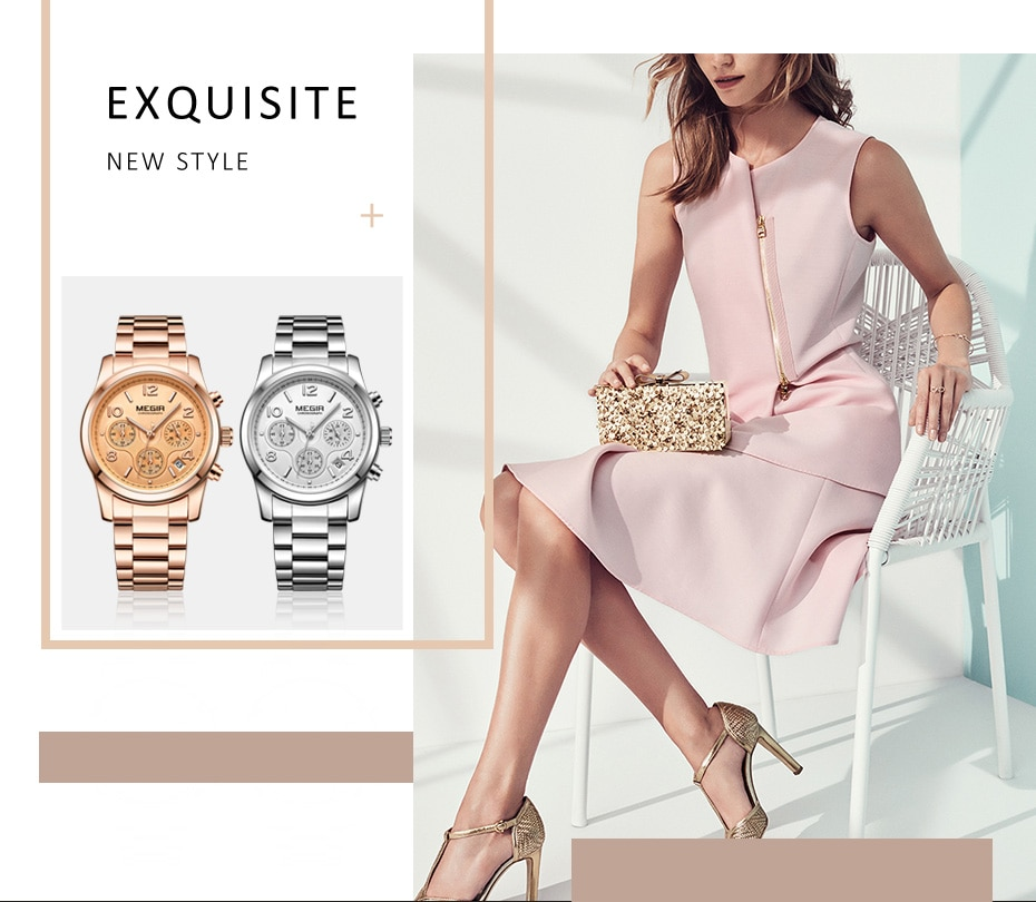 MEGIR Luxury Quartz Women Watches Relogio Feminino Fashion Sport Ladies Lovers Watch Clock Top Brand Chronograph Wristwatch 2057