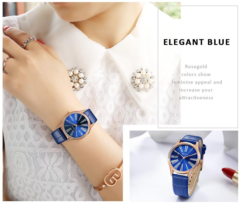 MEGIR Women Watches To Brand Luxury Diamond Ladies Watch Women Relogio Feminino Lovers Wrsitwatch Zegarek Damski Reloj Mujer