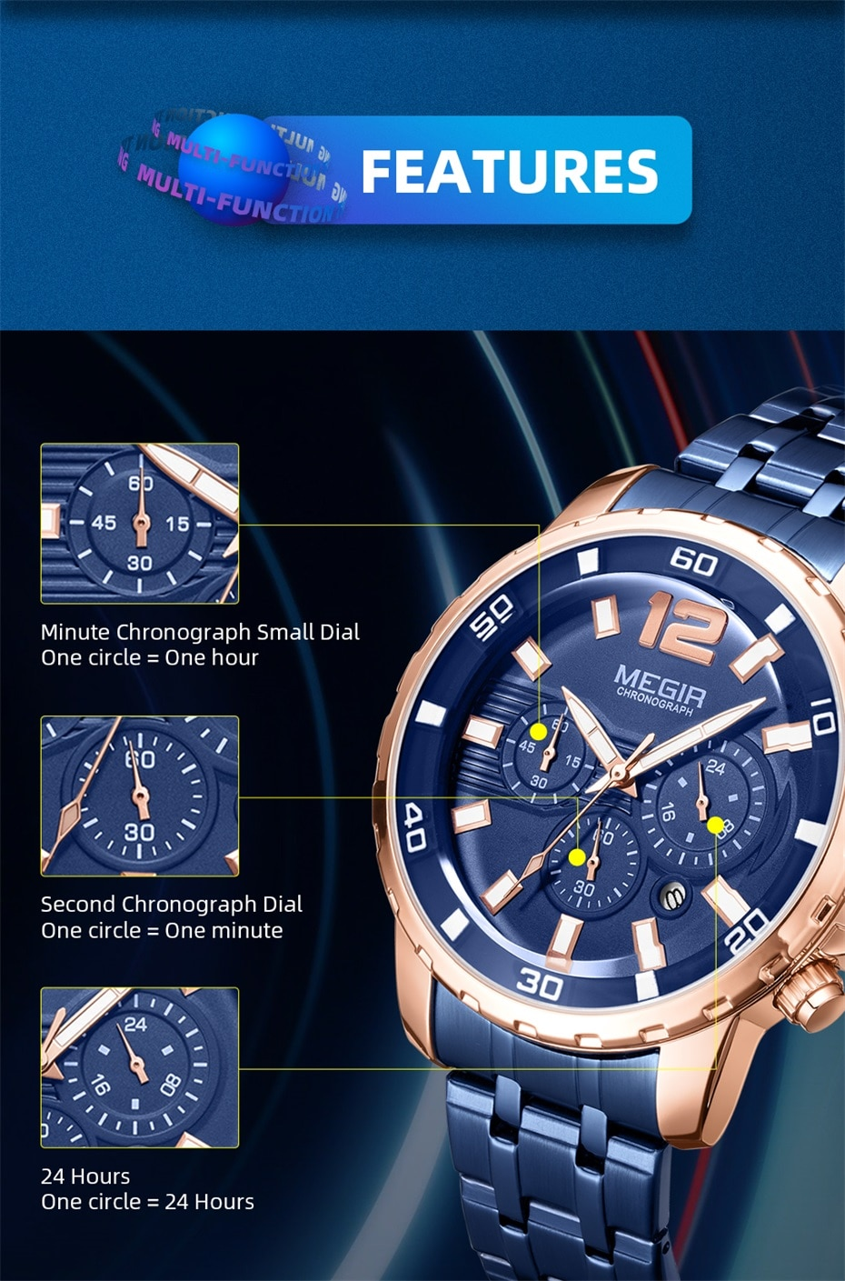 Chronograph Sports Watch