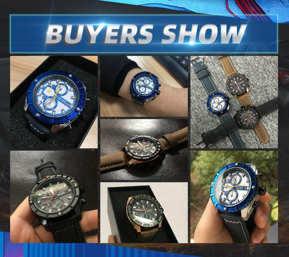 Blue Men's Sports Watch with Luminous