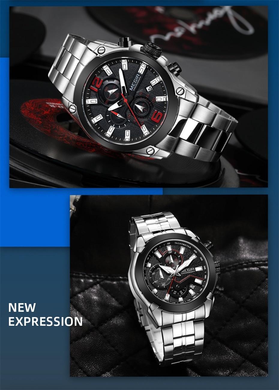 Chronograph Military Wristwatch