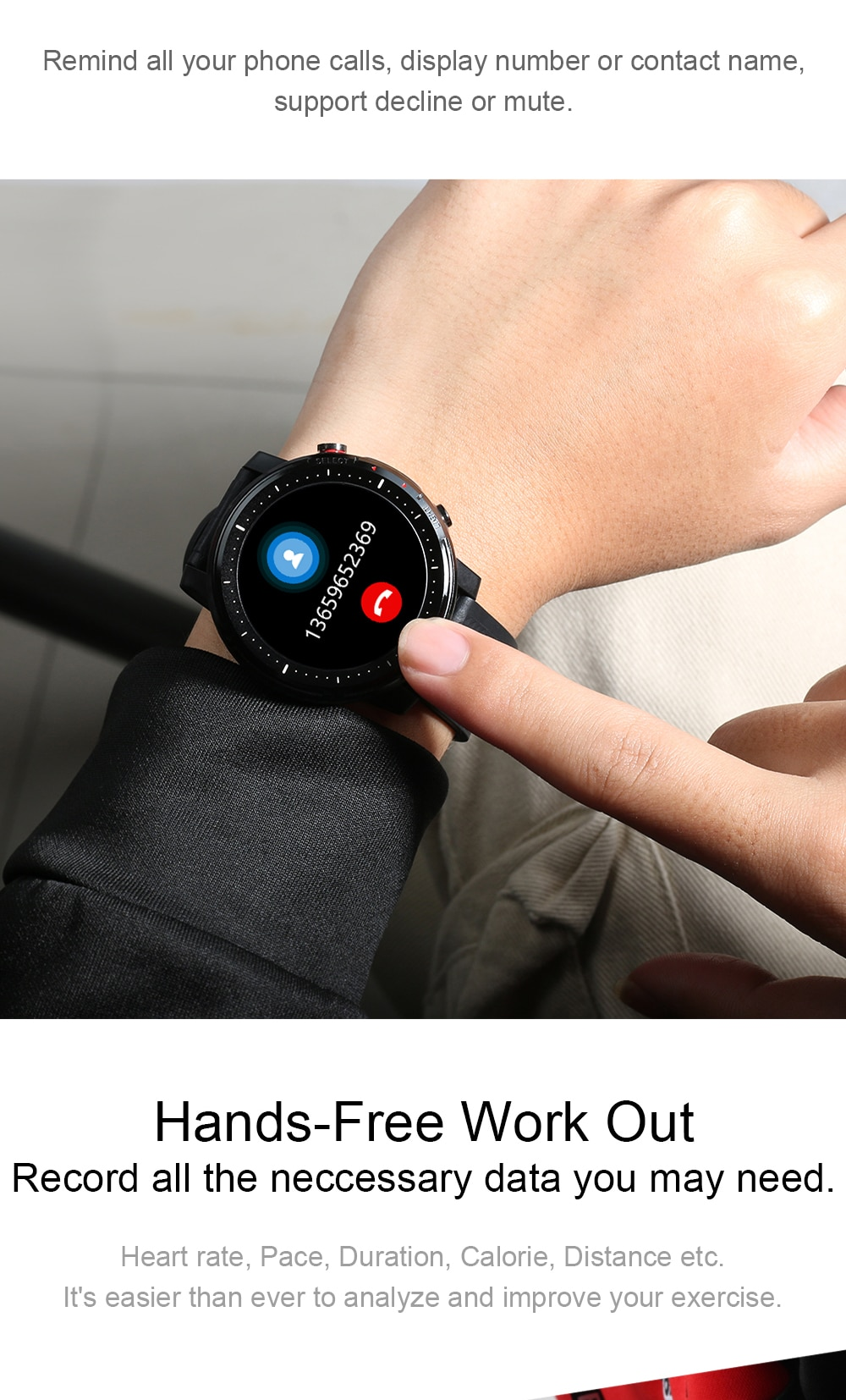Smartwatch for IOS Android phone
